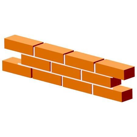 Fragment of brick wall - brickwork visual training aid
