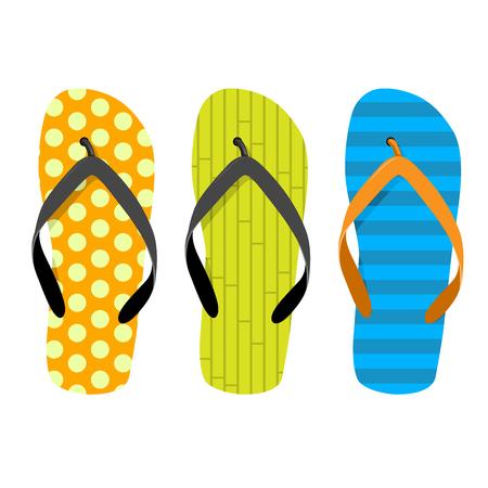 Beach thongs - set of motley beach slippers