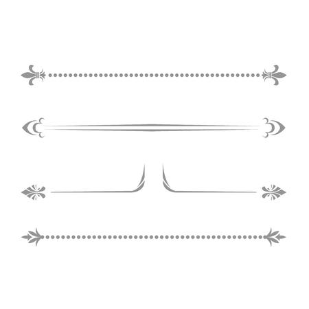 Decorative bookish lines - delimiters, separators and dividing vignettes