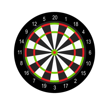 Dart board layout design - darts game