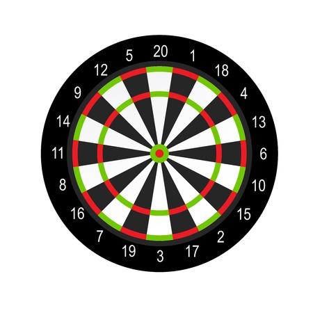 Progettazione del layout del tabellone per le freccette - gioco di freccette Vettoriali