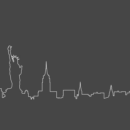 New York City skyline - sketch of NYC cityscape