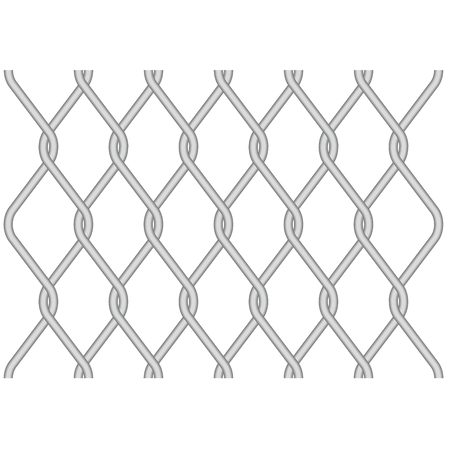 Rabitz, metallic wire mesh pattern - twisted wire fence