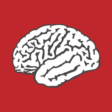Human brain icon - intelligence and IQ concept