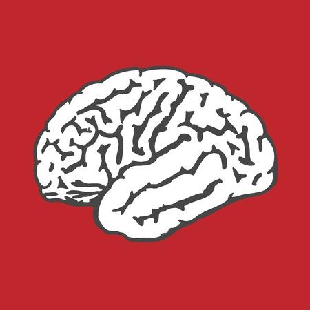 Human brain icon - intelligence and IQ concept