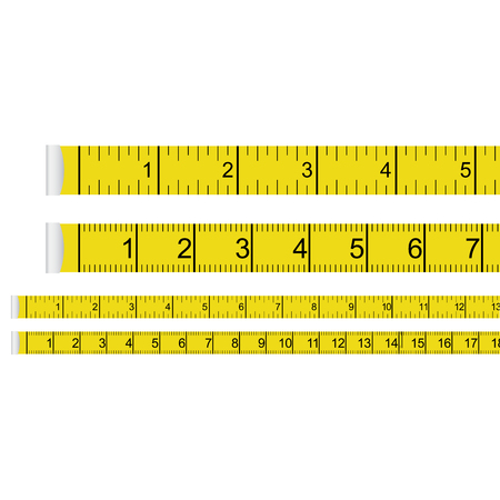 Tape measure presets - centimeter with inchs and centimetres Illustration