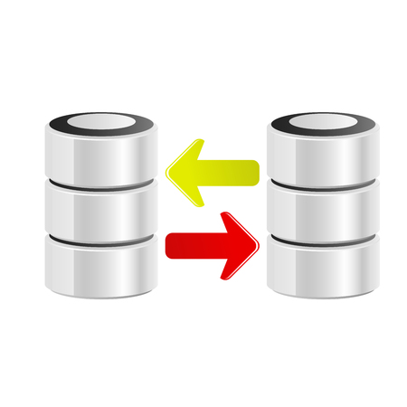 Icon of servers data transfer - data exchange concept