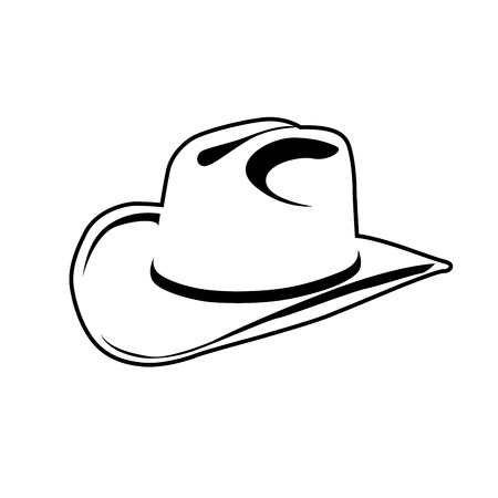Simple outline of cowboy hat - symbol of wild west