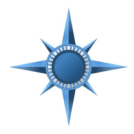 Compass rose symbol - wind rose sign Illustration