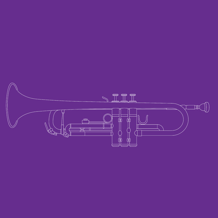 Outline of trumpet - musical instrument