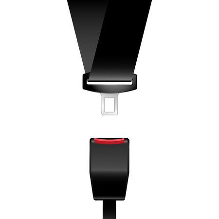 Car safety seat belt icon - catch, latch Stok Fotoğraf - 114773458