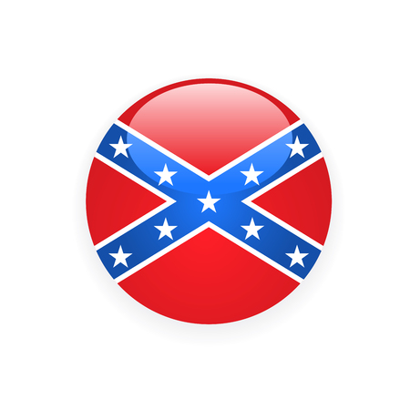 Icon with flag of Confederate rebel - CSA symbol