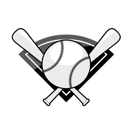 Baseball emblem - two crossed bat and ball