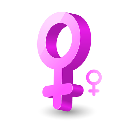 3D female gender symbol - woman sign