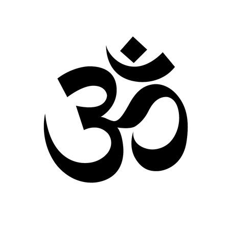Hindu Om symbol - religious sign of buddhism Çizim