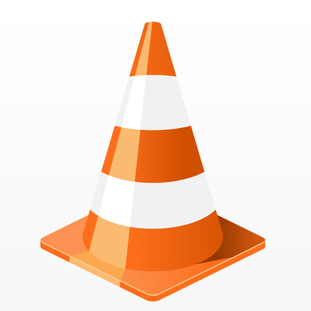 Traffic cone icon - repair work plastic barrier Иллюстрация