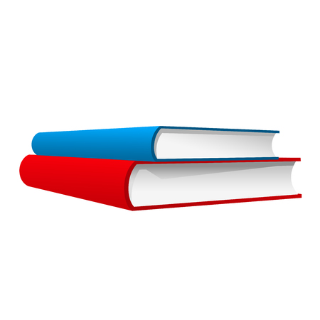 Stack of two books - red and blue books