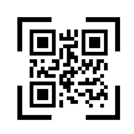 QR code on white background - quick response code