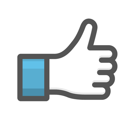 Like hand sign - thumb up gesture icon