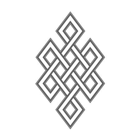 Celtic knot grey pattern on white background Çizim