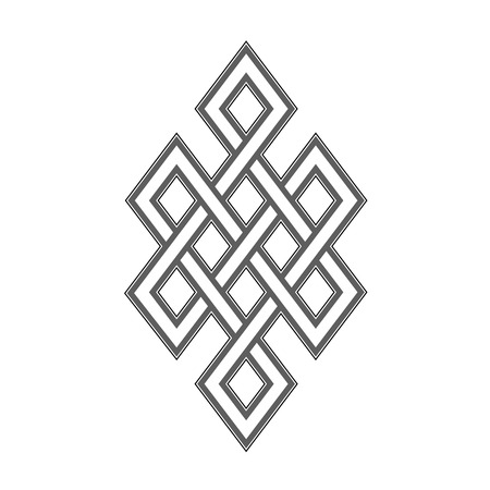 Celtic knot grey pattern on white background Illustration