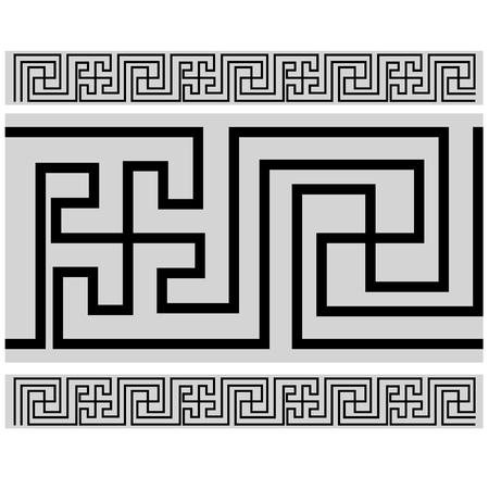 Tibetan style border - Buddhist pattern Foto de archivo - 105343421