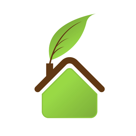 Icon of green house - eco home