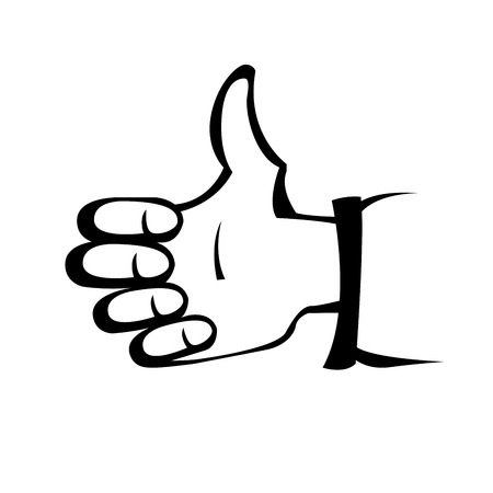 Hand gesture like - thumbs up sign
