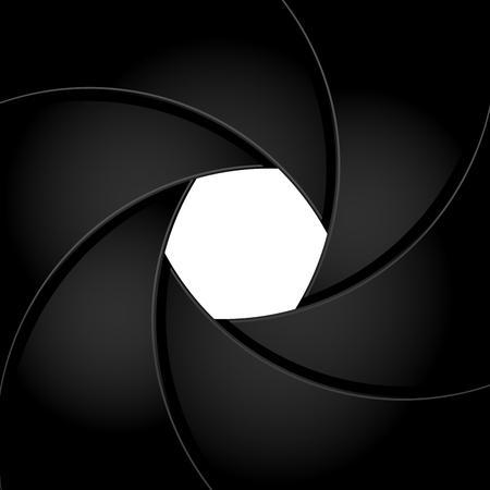 Camera shutter aperture - black frame