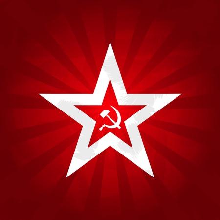 Symboles du communisme - étoile rouge avec faucille et marteau Vecteurs