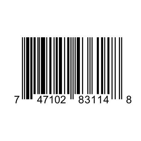 Bar code square label on white background Illustration