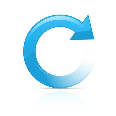 Refresh or reload symbol - blue circular arrow Çizim