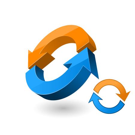 Reload 3d sign - arrow rotation symbol Çizim
