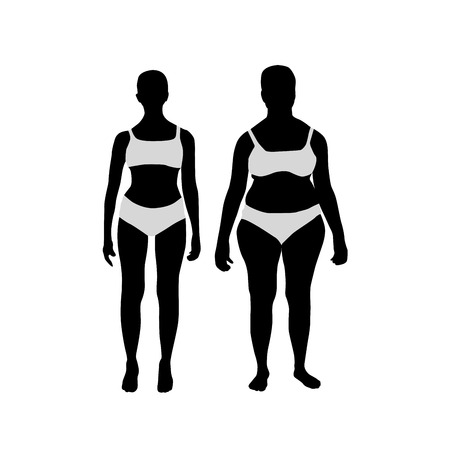 Women before and after weight loss