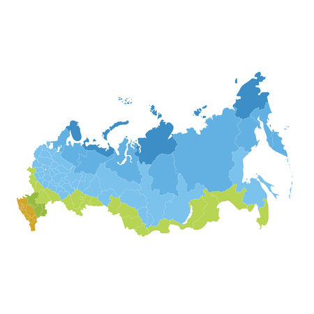 Map of Russia administrative division