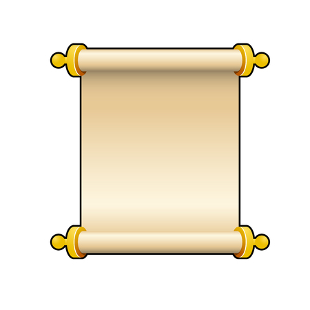 Blank ancient scroll of parchment