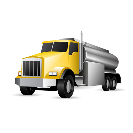 Heavy vehicle - tank truck with fuel