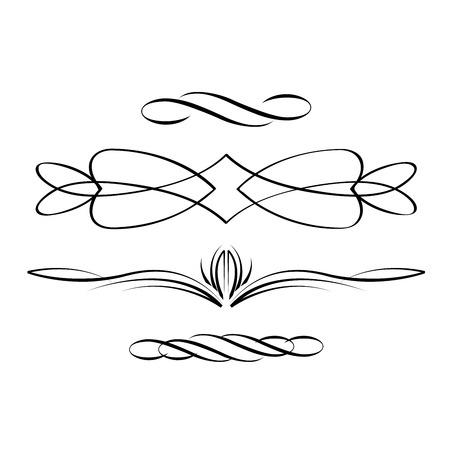 Book vignettes, dividers and separators - elegant delimiters Çizim