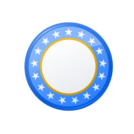 Round campaign badge with stars Illustration