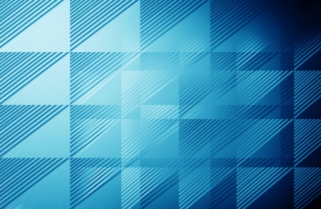 Blue triangle pattern - background  photo