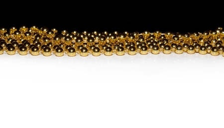 Golden beads background