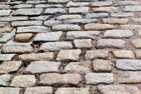 The granite block pavement of the old street