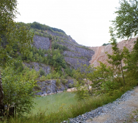 Old quarry landscape  photo