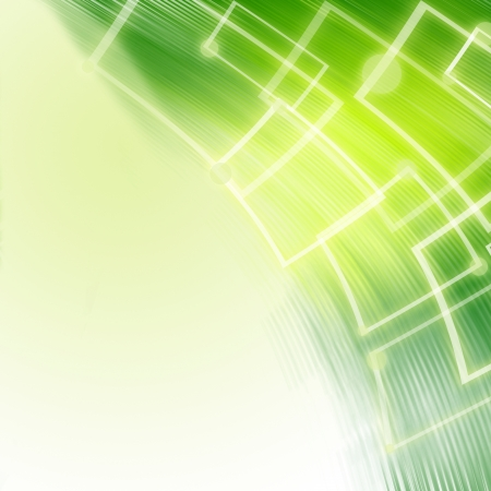 Abstract hi-tech green background  Stock Photo