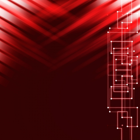 Abstract hi-tech red background Stock Photo - 18969359