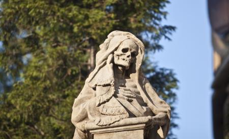 死の彫刻 写真素材