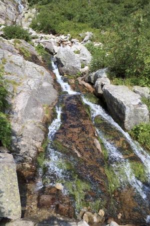 Small waterfall from Karkonosze, Poland.