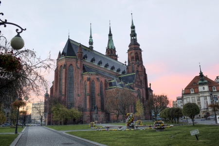St. Peter and st. Paul cathedral in Legnica Poland