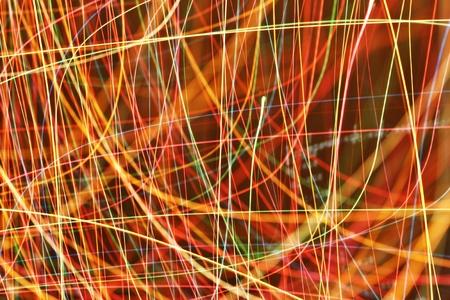 Long exposure light neon pattern texture  Stock Photo