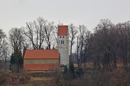 catholic chapel: Small catholic chapel in Poland Stock Photo